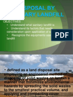 Disposal by Sanitary Landfill