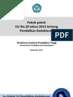 Poin Penting Sosialisasi UU Dikdok 2013