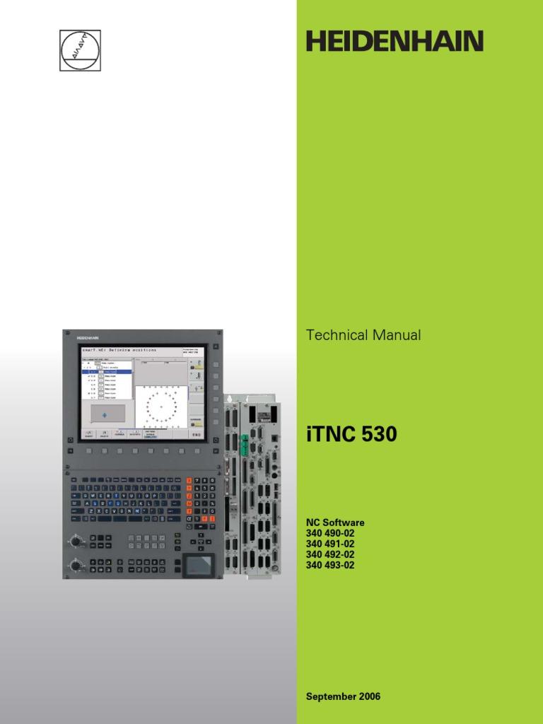Technical Manual iTNC530 English | Programmable Logic Controller | Parameter  (Computer Programming)