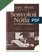 Cemil Meriç - Sosyoloji Notları ve Konferanslar