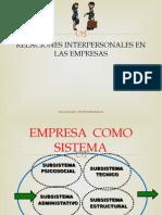 Relaciones Personales en La Empresa