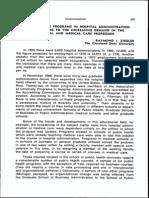 Graduate Programs in Hospital Administration