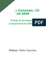 SUNAMPE, 15-10-2009