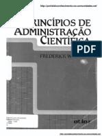 Livro Princípios de Administração Científica - Frederick W. Taylor
