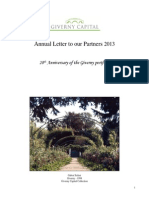 Giverny Capital Annual Letter 2013
