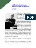 Mario Bunge_La mayor parte de los filósofos actuales se ocupa de menudencias_{Acceso 19-10-2013}
