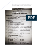 Bhittani Complete Past Sample Paper for Assistant Director Ministry of Defense(Mod) Mcqs Descriptive