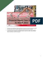2013 AGM Finance Presentation