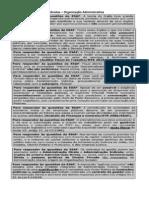 Lembretes_Organização da Administração Pública