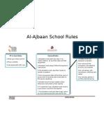 School Rules - English