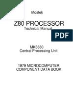 MK3880N Z80 CPU Datasheet