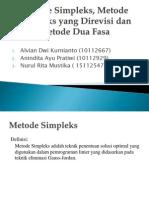 Metode Simpleks, Metode Simpleks Yang Direvisi Dan