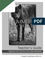 Summer of the Wolves Teacher's Guide