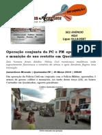 Operação conjunta da PC e PM apreende armas e munição de uso restrito em Queimadas