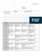 Oral Rubric for communication
