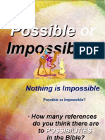 Nothing is Impossible - The Bible, Matthew 19, The Rich Man and Jesus' 'Eye of the Needle' speech