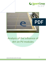 Analysis of the Influence of Dirt in Pv Modules