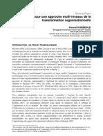 Cadres Pour Une Approche Multi-niveaux de La Transformation Organisationnelle