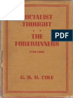 Cole GDH - A History of Socialist Thought Vol 1