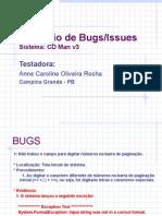 Competicao EBTS Relatorio de Bugs Anne Caroline O Rocha
