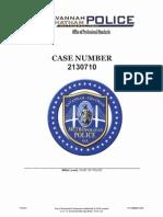 Internal Affairs Report