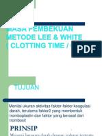 Masa Pembekuan Metode Lee & White A