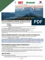 STIPENDIJE_EFA_Rok Za Prijave_2 Travnja 2014