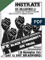 Free The Bradford 12 Leaflet