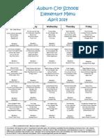 april menu 2014