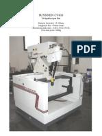 Sunnen CV616 Specs PDF