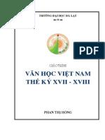 van hoc VN TK 17-18