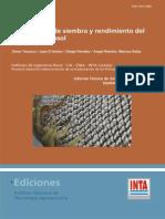Informe técnico de siembra 9 _2009 Uniformidad de siembra y rendimiento del cultivo de girasol.