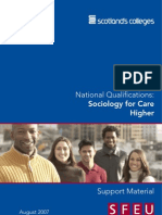 Higher Care - Unit 2 - Sociology for Care
