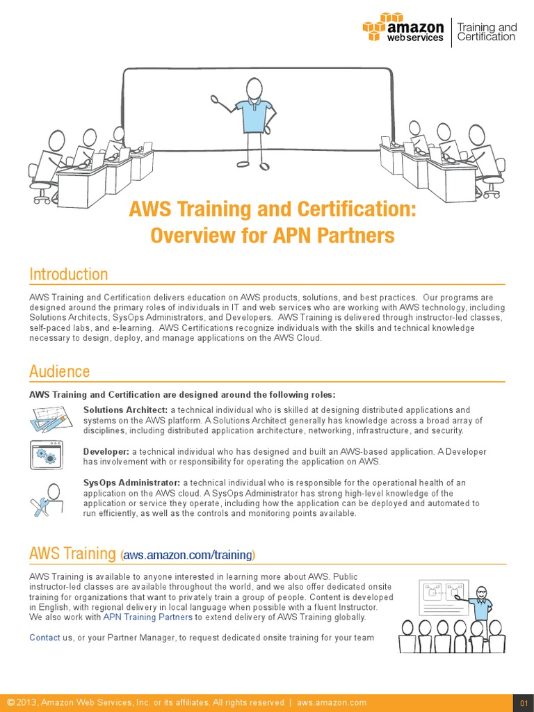 Aws Training Certification Overview For Apn Partners Amazon Web