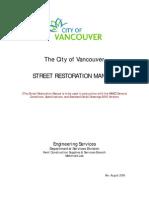 Vancouver Street Restoration Manual