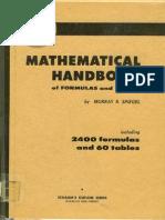 Spiegel Mathematical Handbook