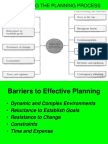 Barriers of Planning