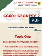 Cg601 Geodesy 2 Topic 1
