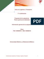 Informacion General de La Asignatura FQM