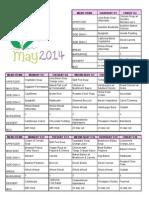 May 2014 Menu