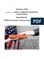 0 Summary of the FRANKLIN LITIGATION Regarding the WFHM Foreclosure Attorney Procedure Manual