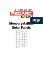 Monocrystalline Solar Panels Instruction Manual