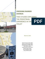 Crossing Rainier Pedestrian Experience March 12 2013 FINAL