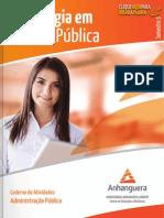 Caderno de Atividades Administracao Publica