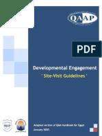 developmental engagement site visit guide line