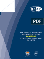 the quality assurance and accreditation handbook for higher education in egypt