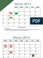 Calendario 14 A