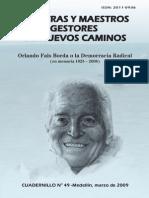 Entrevista a Fals Borda Uno Siembra La Semilla...