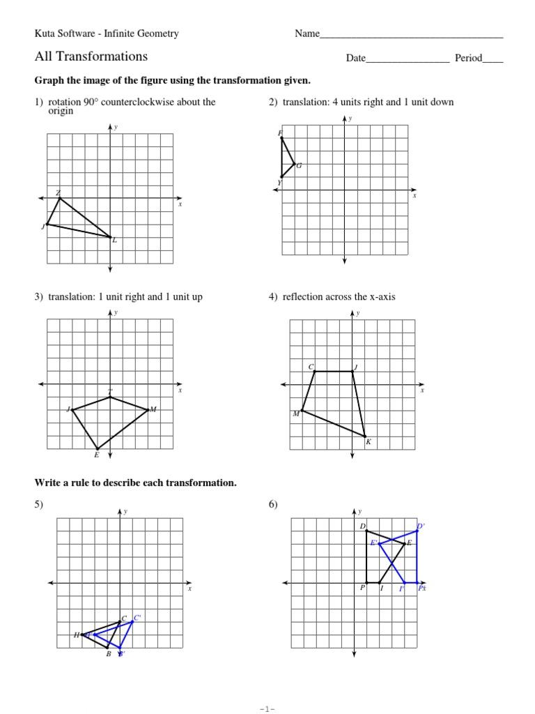 Geometry Transformations Worksheet – careless.me