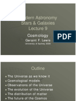 Lecture 9. Cosmology- The Universe as a Whole